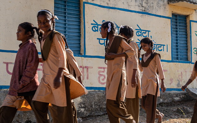 Collaboration with Valmet: Ensuring that children get safely back to school in Dungarpur, India