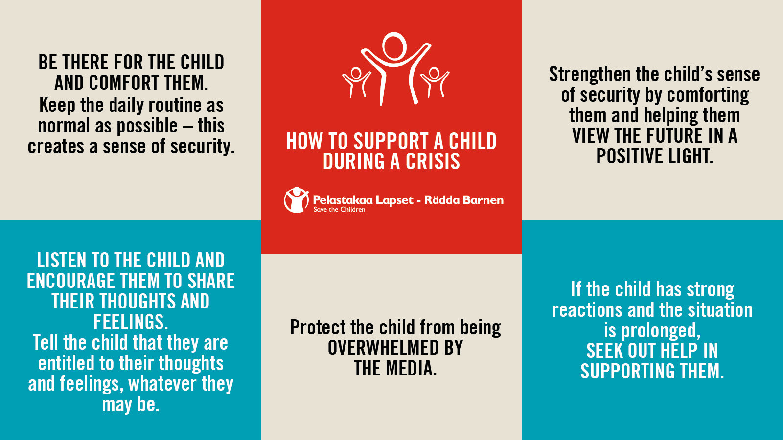 Supporting children and young people during crisis